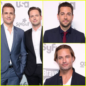 Zachary Levi Attends NBCUniversal Upfront With 'Suits' Cast