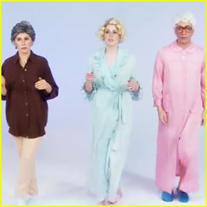 Zosia Mamet, Fred Armisen, & Vanessa Bayer Recreate the 'Golden Girls' for Jenny Lewis' 'She's Not Me' Video - Watch Now!