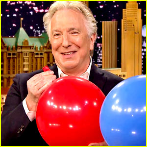 Alan Rickman Inhales Helium for Funny 'Fallon' Segment!