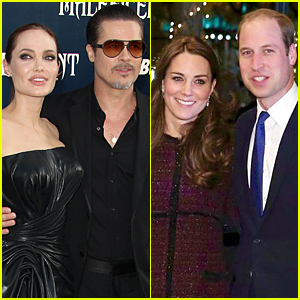 Angelina Jolie & Brad Pitt Meet Prince William & Kate Middleton For Tea
