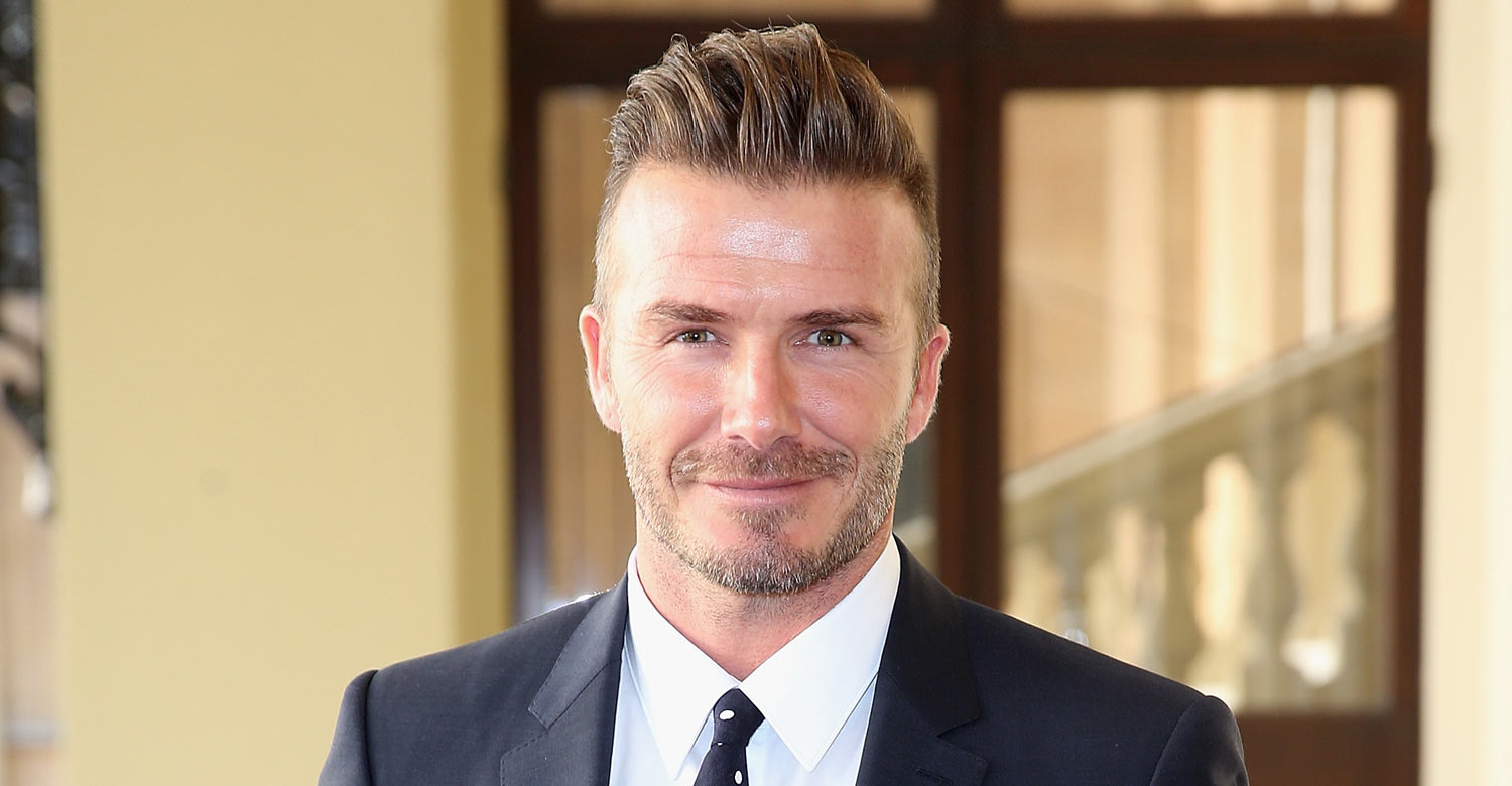 David beckham shows off his perfect father s day present - David beckham ...