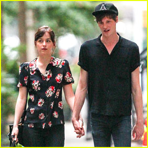 Dakota Johnson & Boyfriend Matthew Hitt Hold Hands for NYC Dog Walk