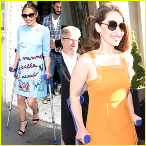 Emilia Clarke Still Looks Amazing, Despite Crutches