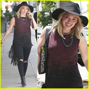 Hilary Duff Breathes In, Breathes Out Beverly Hills