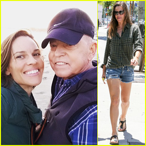 Hilary Swank Shares Super Sweet Beach Photo for Father's Day