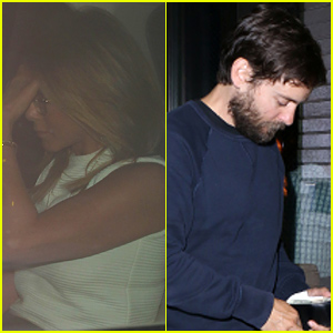Jennifer Aniston & Tobey Maguire Dine Out in Beverly Hills