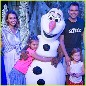 Jessica Alba & Cash Warren Let It Go at Walt Disney World