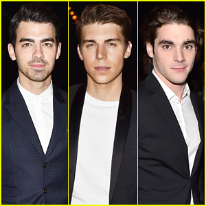 Joe Jonas, Nolan Gerard Funk & RJ Mitte Make It A Stud Fest at Dsquared2 Fashion Show!