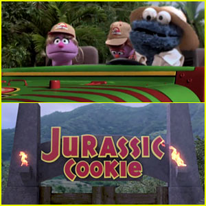 'Jurassic Park' Gets a 'Sesame Street' Cookie Spoof! (Video)