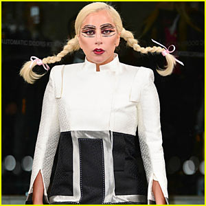 Lady Gaga Channels Pippi Longstocking - Pigtails Included!