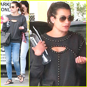 Lea Michele Records With Diane Warren Inside the Studio