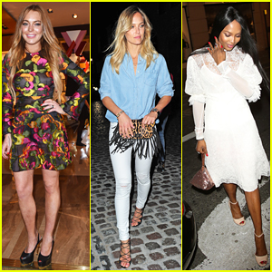 Lindsay Lohan, Bar Refaeli & Naomi Campbell Live It Up at Louis Vuitton's Summer Launch Party!
