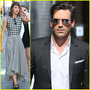 Lizzy Caplan Tells Jon Hamm She's Better Than Him - Watch Here!