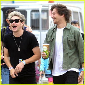 Niall Horan & Louis Tomlinson Hit Glastonbury Music Fest With Douglas Booth