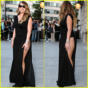 Mariah Carey Displays a Whole Lot of Leg in This Revealing Dress!
