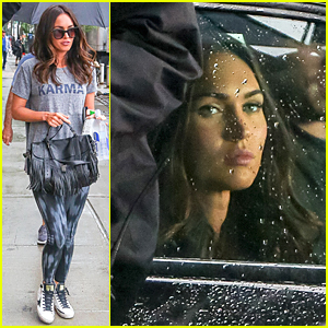 Megan Fox Battles Rain on 'Teenage Mutant Ninja Turtles 2' Set