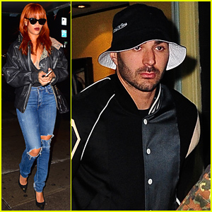 Rihanna & Soccer Star Karim Benzema Spend Early Morning Hours in a Diner