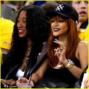 Rihanna Sits Courtside at First Game of the NBA Finals