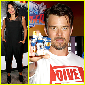 Rosario Dawson & Josh Duhamel Play Games at E3 Conference