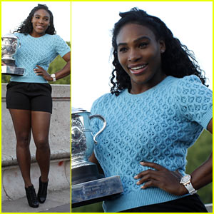 Serena Williams Celebrates French Open Win at Eiffel Tower