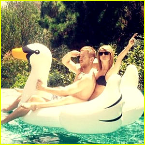 Taylor Swift Wears Bikini for Pool Day with Calvin Harris!