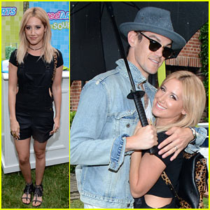 Ashley Tisdale Gets Back to Her Candy Bar Days at Just Jared's Summer Bash Presented by SweeTARTS Chewy Sours!