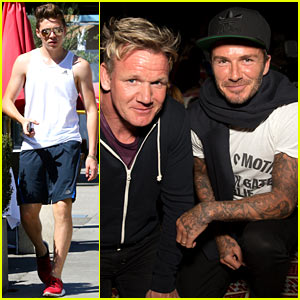Brooklyn Beckham Works Out Before 'Willy Wonka' Family Time