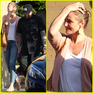 Cameron Diaz & Benji Madden Have Low Key Sunday After Fourth of July!