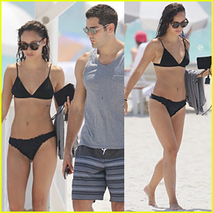 Cara Santana & Jesse Metcalfe Head to Miami for Beach Lounging and App Launching