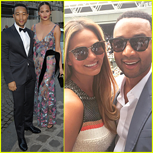 Chrissy Teigen & John Legend Are Most Stylish Couple at Vogue Paris Gala