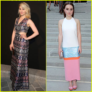 Dianna Agron & Kaitlyn Dever Go Vogue in Paris