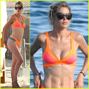 Model Doutzen Kroes Models Her Amazing Bikini Body in Ibiza