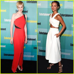 Elizabeth Debicki & Alicia Vikander Get Dressy for Comic-Con