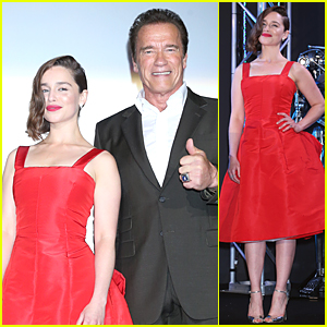 Emilia Clarke Looks Red Hot at 'Terminator Genisys' Japan Premiere