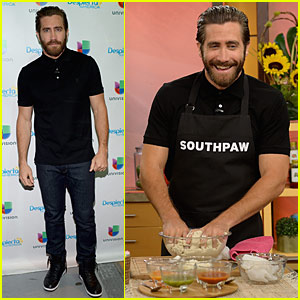 Jake Gyllenhaal Gets Cooking on 'Despierta America'