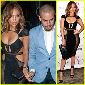 Jennifer Lopez Celebrates 46th Birthday in Super Sheer Dress!