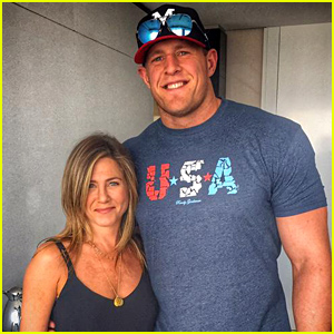 NFL Superstar JJ Watt Met His Celebrity Crush Jennifer Aniston & His Life Was Made!