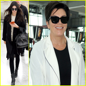 Kendall Jenner & Mom Kris Fly Out of London Together