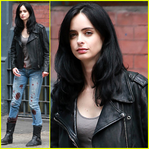 Krysten Ritter Gets Bloody for 'Jessica Jones' Filming in NYC
