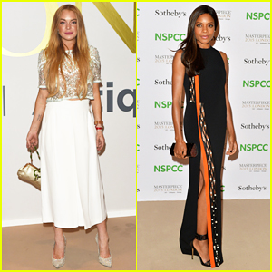 Lindsay Lohan & Naomie Harris Support The Arts at NSPCC Neo-Romantic Gala 2015!