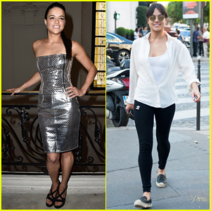Michelle Rodriguez Is Metallic for Jean Paul Gaultier Show at Paris Fashion Week!
