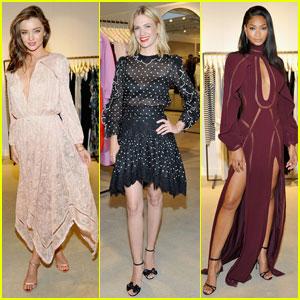 Miranda Kerr & January Jones Get Dressy for Zimmermann Summer Cocktail Party