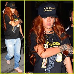 Rihanna Hits the Studio at 2AM to Record Some Tracks