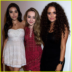 Sabrina Carpenter Gets Stuck in a Madison Sandwich at Just Jared & JustFab's Malibu Dinner!