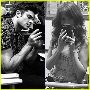 Anna Kendrick & Zac Efron Get Sneaky Pics Of Each Other On 'Mike & Dave' Set
