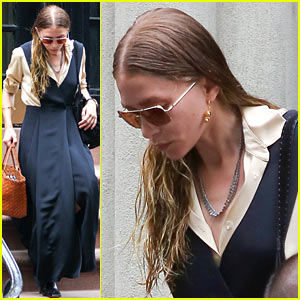 Ashley Olsen Bundles Up in the NYC Heatwave
