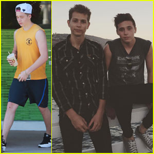 Brooklyn Beckham Hits SoulCycle Class With His Parents After Hanging Out With The Vamps