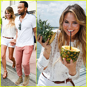 Chrissy Teigen & John Legend Celebrate Sunday Rumday