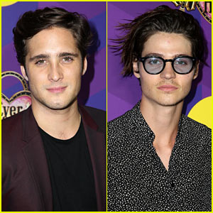 Diego Boneta & Will Peltz Bring Style to Just Jared's Wonderland Party