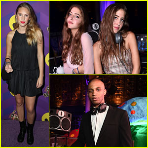Dylan Penn Shares Tea Time with DJs Sama & Haya at Just Jared's 'Way Too Wonderland' Presented by Ever After High